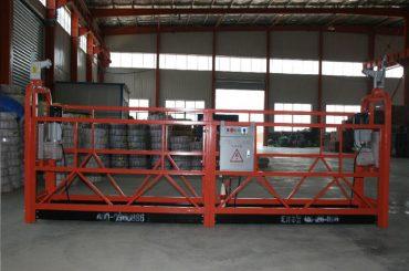 Ζεύγος 1000 - 8 m - 10 m / min ασφαλής αιωρούμενη πλατφόρμα για κατασκευή και συντήρηση κτιρίων