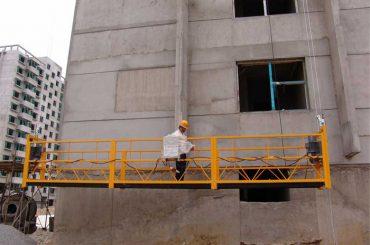 7.5m προσαρμοσμένες πλατφόρμες ανάρτησης 800 kg για καθαρισμό κτιρίων, τύπου pin