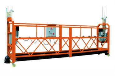 2.5mx 3 τμήματα 1000kg αναρτημένη πλατφόρμα πρόσβασης ταχύτητα ανύψωσης 8-10 m / min
