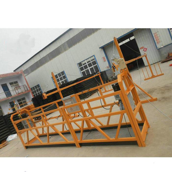 Αξιόπιστη ζωγραφική ZLP630 Χάλυβα αναρτημένη πλατφόρμα εργασίας για την κατασκευή κτιρίων (2)