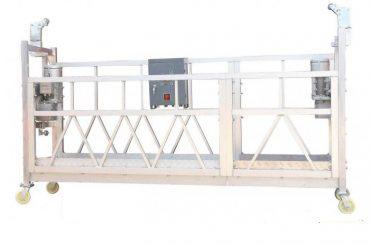 χάλυβα ζωγραφισμένο / ζεστό γαλβανισμένο / αλουμίνιο zlp630 αιωρούμενη πλατφόρμα εργασίας για την οικοδόμηση πρόσοψης ζωγραφική