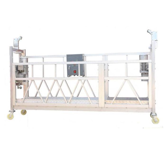 Ζυγισμένο χάλυβα / ζεστό γαλβανισμένο / αλουμίνιο ZLP630 αναρτημένη πλατφόρμα εργασίας για την τοποθέτηση κτιρίων σε προσόψεις
