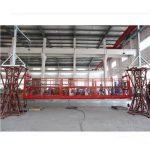 10 μέτρα αναρτημένη πλατφόρμα εργασίας με κράμα αλουμινίου με ανυψωτήρα ltd8.0